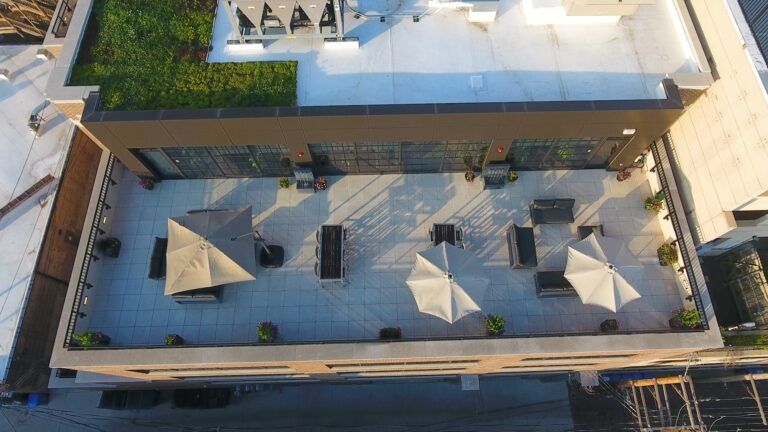 Roof Top Top Aerial View